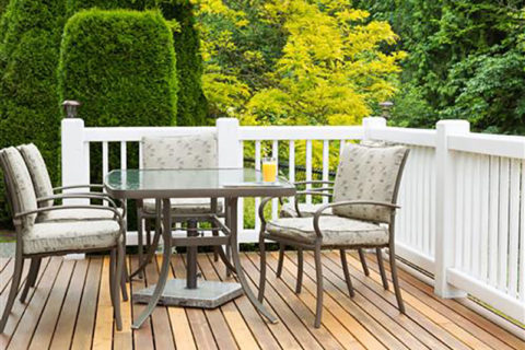outside deck with furniture